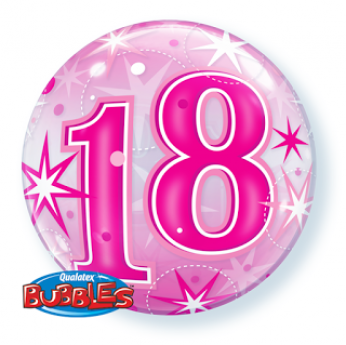 Bubble Ballon Starburst Sprinkle 18e Verjaardag