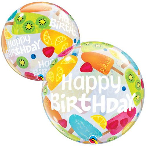 Bubble Ballon Happy Birthday Frozen Treats