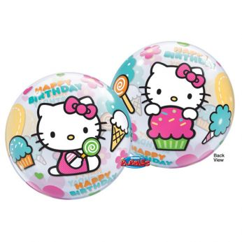 Bubble ballon Hello Kitty verjaardag