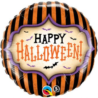 Folieballon Halloween stripes