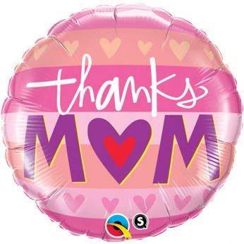 Folieballon Thanks Mom