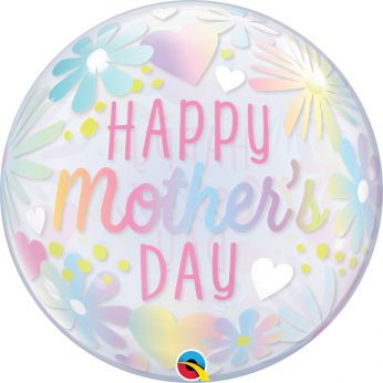 Bubble Ballon Mother's day Floral Pastel