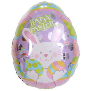 Folieballon Easter Egg Bunny