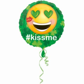 Folieballon St. Patrick's Day #kiss me