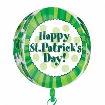 Folieballon Orbz. Happy St. Patrick's Day