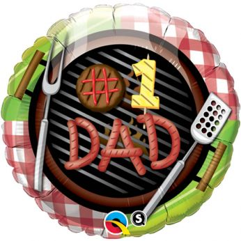 Folieballon Vaderdag # 1 DAD