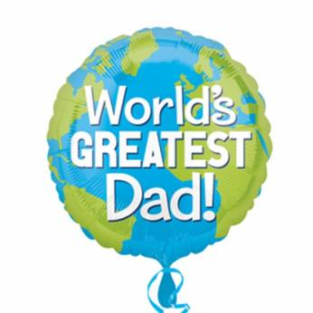 Folieballon Vaderdag World's Greatest Dad