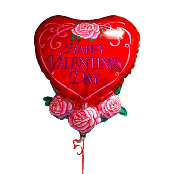 Folieballon Happy Valentine's Day rozen