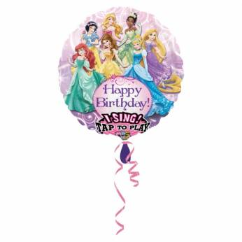 Muziekballon Disney Prinsessen, Happy Birthday