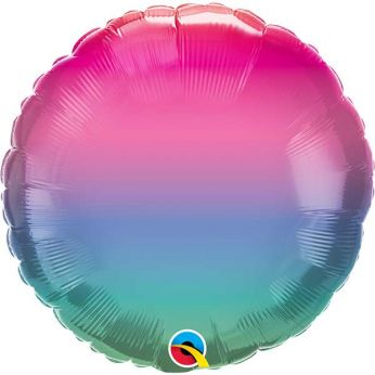 Heliumballon Rond Jewel Ombre 18 inch