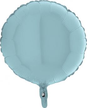 Heliumballon rond - 39INCH (90cm) Pastel Blue