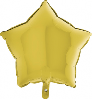 Heliumballon ster - 18 INCH (45 cm) Pastel Yellow