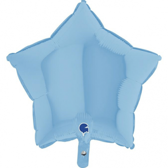 Heliumballon ster - 18 INCH (45 cm) Matte blue