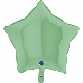 Heliumballon ster - 18 INCH (45 cm) Matte Green