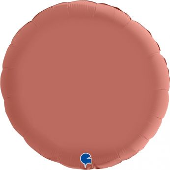 Heliumballon rond - 18 INCH (45 cm) Satin Rose gold
