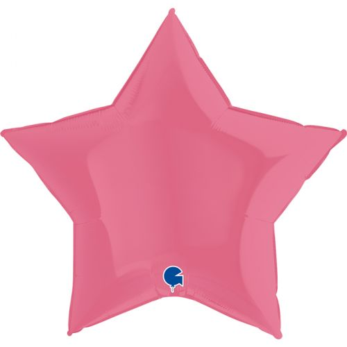 Heliumballon ster - 36INCH (90cm) Bubble gum rose
