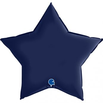 Heliumballon ster - 36 INCH (90 cm) Satin Blue Navy
