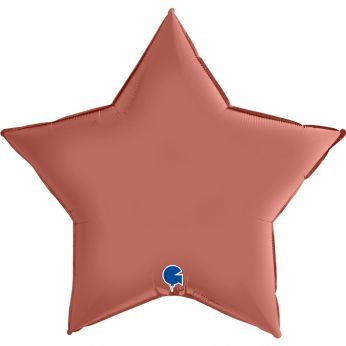 Heliumballon ster - 18 INCH (45 cm) Satin Rose Gold
