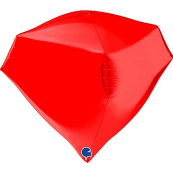 Heliumballon Diamant - 18 INCH (45 cm) Red