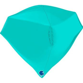 Heliumballon Diamant - 18 INCH (45 cm) Tiffany Blue