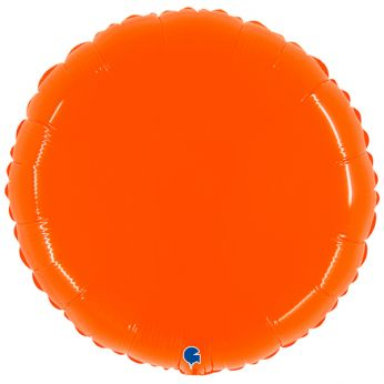 Heliumballon rond - 21 INCH (53cm) Orange Fluo