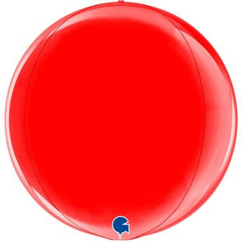 Heliumballon Globe 11 inch  -  Red