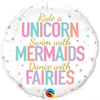 Helium ballon unicorn/mermaid/fairies