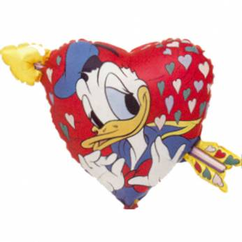 Folieballon Donald & Katrien Duck Love