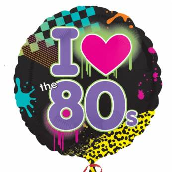Folieballon I love the 80s