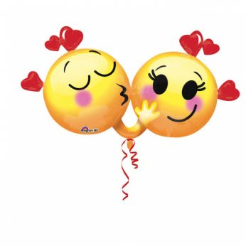 Folieballon Shape Emoticon in love