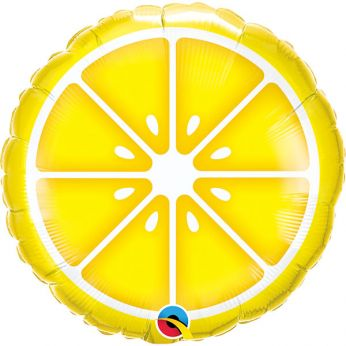 Heliumballon sliced lemon
