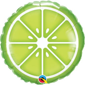 Heliumballon sliced lime