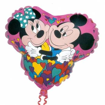 Folieballon Mickey & Minnie Mouse hartvorm