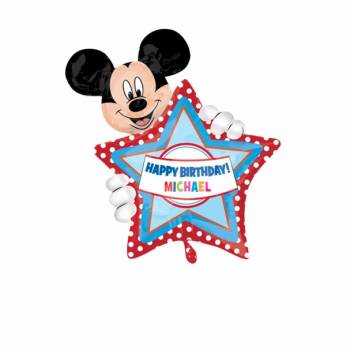 Gepersonaliseerde Folieballon Happy Birthday Mickey Mouse