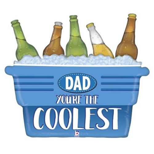 Heliumballon shape 33 inch (83 cm) Coolest Dad cooler