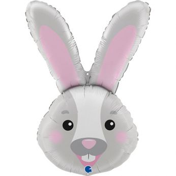 Helium ballon shape rabbit head - 37 inch (94 cm)