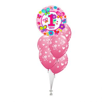 Tros Folie/Latex Hi-Float Ballonnen 1ste Verjaardag Birthday Girl