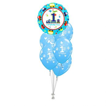 Tros Folie/Latex Hi-Float Ballonnen 1ste Verjaardag Birthday Boy