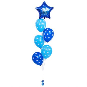 AANBIEDING | Tros Folie/Latex Hi-Float Ballonnen Vaderdag Dad You're A Star