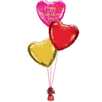 Folie ballon boeket happy valentine's day