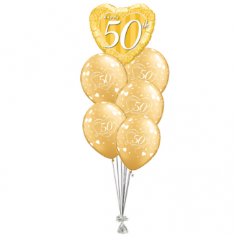 Ballonboeket Happy 50th Anniversary