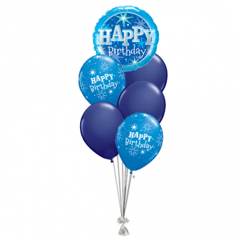 Ballonboeket Happy Birthday Deep Blue