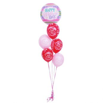 Tros Bubble/Latex Hi-Float Ballonnen Happy Mother's Day
