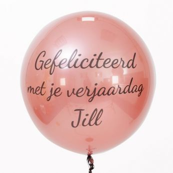 Gepersonaliseerde bubble ballon