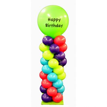 Ballonpilaar Happy Birthday