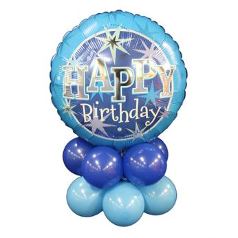 Tafeldecoratie Happy Birthday Blauw