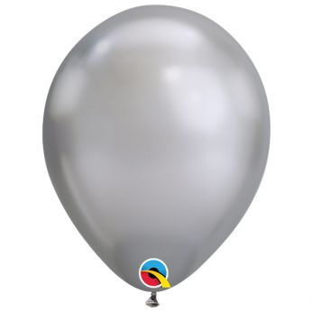 10 stuks 11 inch Chrome Silver Qualatex Ballon