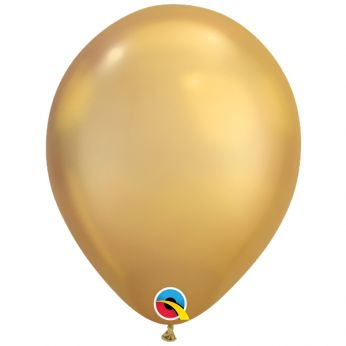 10 stuks 11 inch Chrome Gold Qualatex Ballon