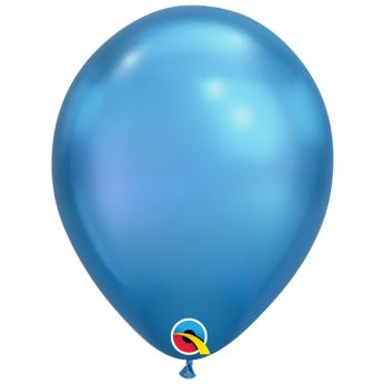 10 stuks 11 inch Chrome Blue Qualatex Ballon