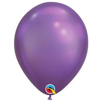 10 stuks 11 inch Chrome Purple Qualatex Ballon